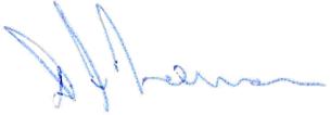 David Norman's signature